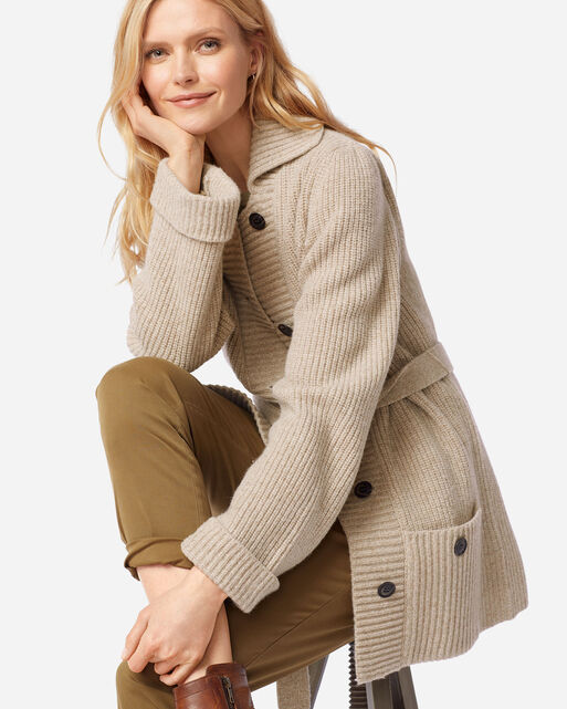 WOMEN'S COOS CURRY CARDIGAN IN TAN
