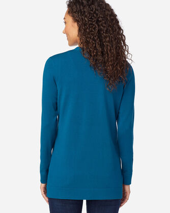 ALTERNATE VIEW OF WOMEN'S COLBY V-NECK CARDIGAN IN MOROCCAN BLUE