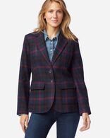 WOMEN'S BRYNN WOOL BLAZER IN NAVY ANGUS TARTAN