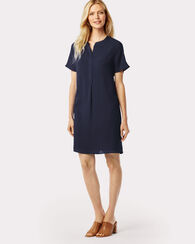 SILK TANIA SHIRTDRESS, NAVY, large