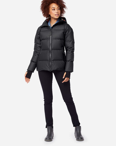 FAIRBANKS WATERPROOF DOWN HOODED PUFFER, BLACK/ACADIA, large