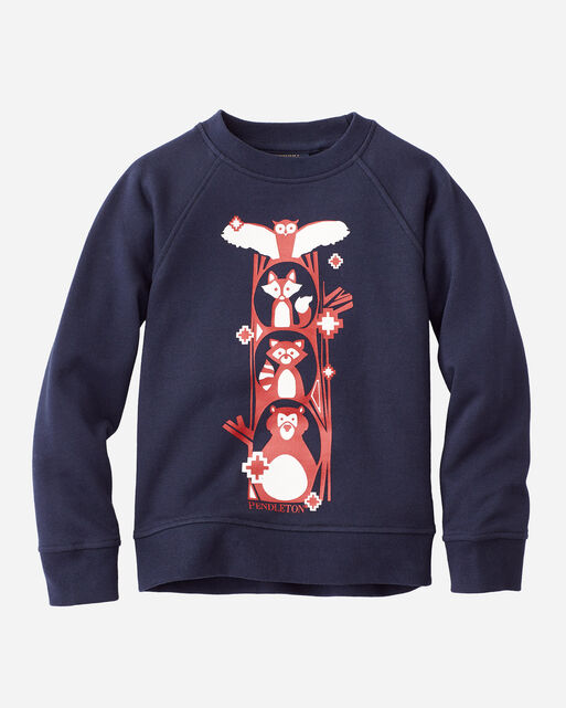 KIDS' ANIMAL FOREST CREW SWEATSHIRT