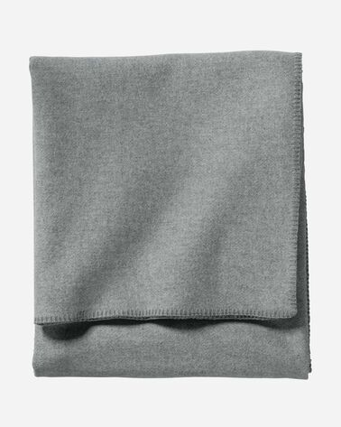 ECO-WISE WOOL SOLID BLANKET, GREY HEATHER, large