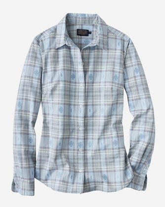 AUDREY FITTED SHIRT, CELESTIAL BLUE, large