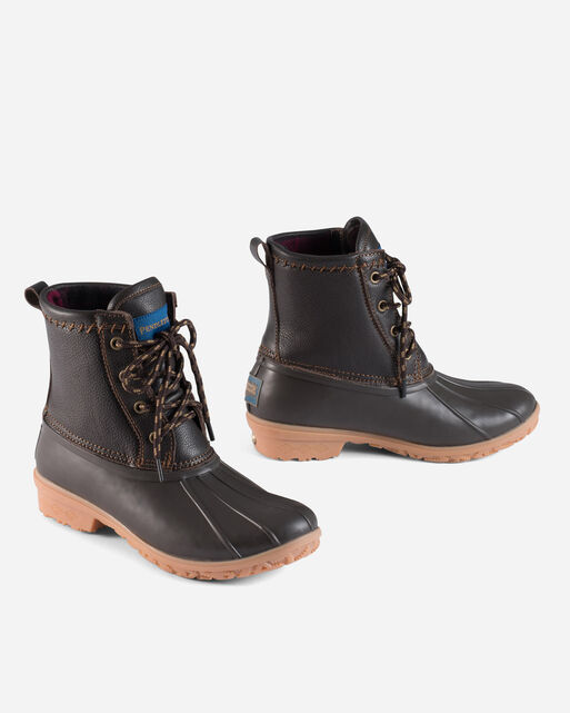 LEATHER UPPERS DUCK BOOTS IN BROWN