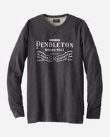 MEN'S PENDLETON LOGO CREW SWEATSHIRT IN GRAND CANYON CHARCOAL