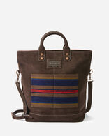 SHELTER BAY LONG TOTE, BROWN, large