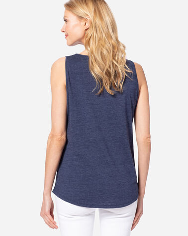 WOMEN'S SURF PENDLETON GRAPHIC TANK, NAVY HEATHER, large