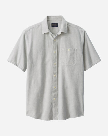 MEN'S SHORT SLEEVE KAY STREET SHIRT IN IVORY/INDIGO DOT