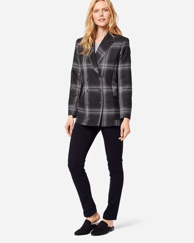 ADDITIONAL VIEW OF PRESTON DOUBLE-BREASTED WOOL BLAZER IN GHOST PLAID
