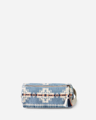 ALTERNATE VIEW OF CHIEF JOSEPH COSMETIC BAG IN TURQUOISE HEATHER
