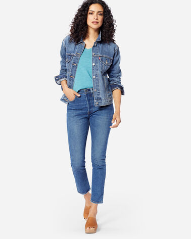 LEVI'S 501 SKINNY WE THE PEOPLE JEANS IN MEDIUM BLUE