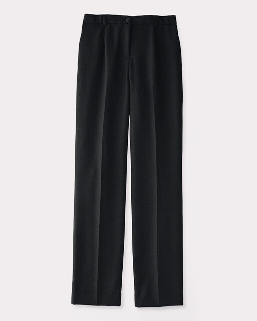WORSTED WOOL FLANNEL TRUE FIT TROUSERS