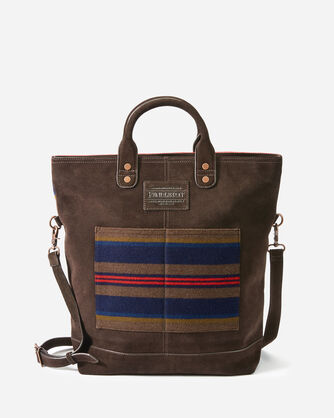 SHELTER BAY LONG TOTE IN BROWN