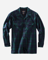 MEN'S FITTED BOARD SHIRT, BLACK WATCH TARTAN, large