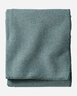 ECO-WISE WOOL SOLID BLANKET IN SHALE BLUE