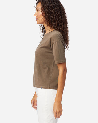 ALTERNATE VIEW OF WOMEN'S CROPPED DESCHUTES TEE IN WALNUT
