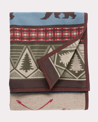 ADDITIONAL VIEW OF PINE LODGE BLANKET IN BROWN