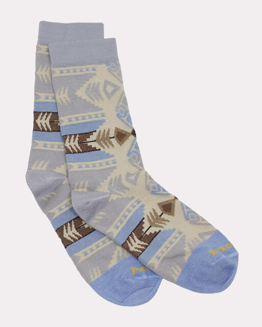 SILVER BARK CREW SOCKS, GREY, large