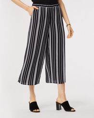 BLAKE WIDE LEG PANTS, BLACK/WHITE STRIPE, large