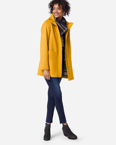 LOGAN WATERPROOF STAND-COLLAR COAT IN GOLDENROD