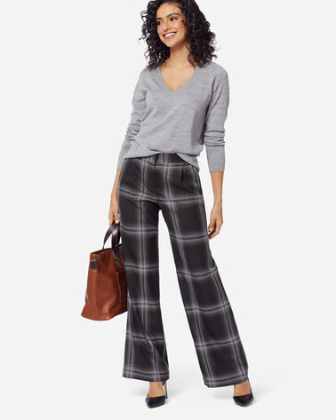HOLLYWOOD AIRLOOM WOOL PANTS IN GHOST PLAID