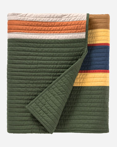 BADLANDS NATIONAL PARK PIECED QUILT SET, BADLANDS OLIVE, large