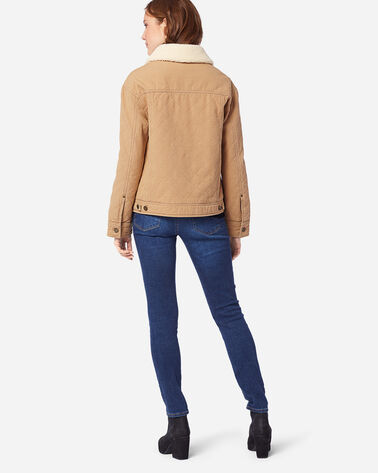 ADDITIONAL VIEW OF WOMEN'S SIDNEY QUILTED BARN COAT IN CHAMOIS