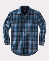 LODGE SHIRT, INDIGO PLAID, large
