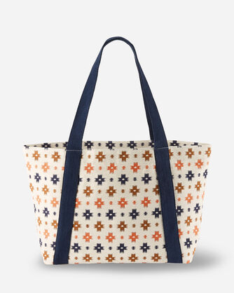 ALTERNATE VIEW OF SWEET WATER  COTTON TOTE IN MULTI