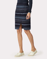 RIVER STRIPE CROSSOVER SKIRT, NAVY MULTI, large