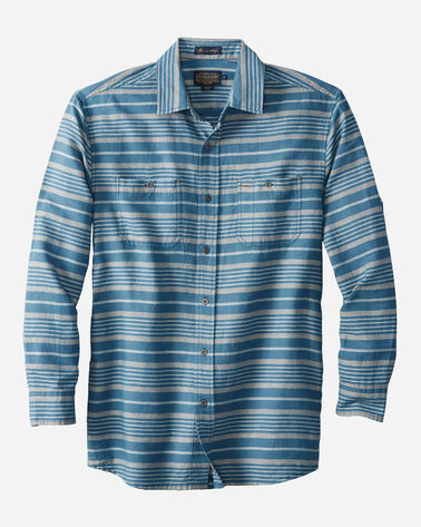 FITTED KAY STREET STRIPE SHIRT, NAVY/CREAM, large