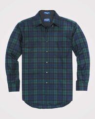 FITTED BUTTON-DOWN FIRESIDE SHIRT, BLACK WATCH TARTAN, large