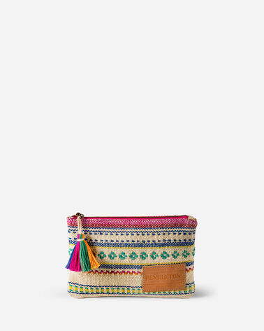 PALOMA STRIPE ZIP POUCH, BRIGHT STRIPE, large