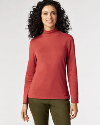 LONG-SLEEVE MOCKNECK TEE, CHILI OIL HEATHER, large