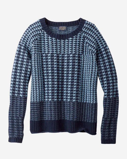 PLAID LAMBSWOOL PULLOVER