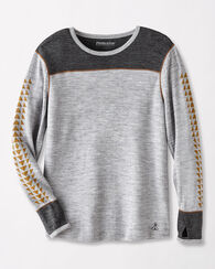 BASELAYER CREWNECK TEE, GREY HEATHER, large