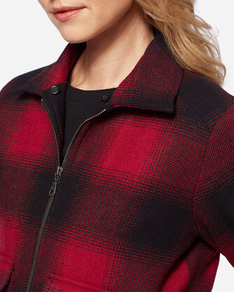 BAINBRIDGE WOOL JACKET, RED/BLACK OMBRE CHECK, large