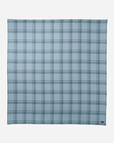 ADDITIONAL VIEW OF STILLWATER COTTON PLAID BLANKET IN BLUE