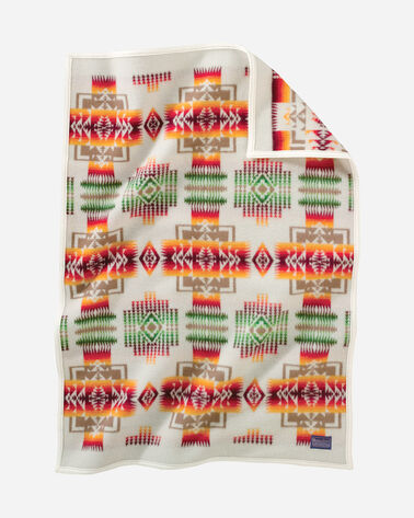 CHIEF JOSEPH CRIB BLANKET IN WHITE