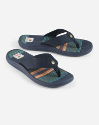 MENS SURF STRIPE SANDALS, NAVY, large