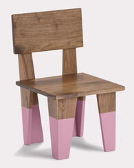 WALNUT WEE CHAIR, PINK/WALNUT, large