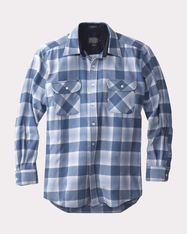 ULTRA-FINE MERINO MAVERICK SHIRT, CAROLINA BLUE PLAID, large