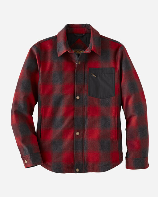 MEN'S CONWAY ACCENT POCKET JACKET IN RED OMBRE