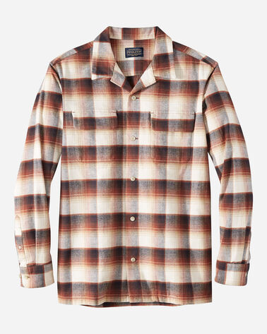 MEN'S FITTED BAJA BOARD SHIRT IN TAN/BROWN OMBRE