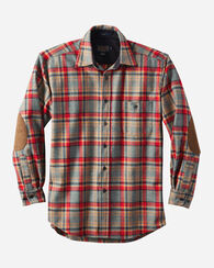 LONG-SLEEVE FITTED TRAIL SHIRT, CAMP GREEN HEATHER, large
