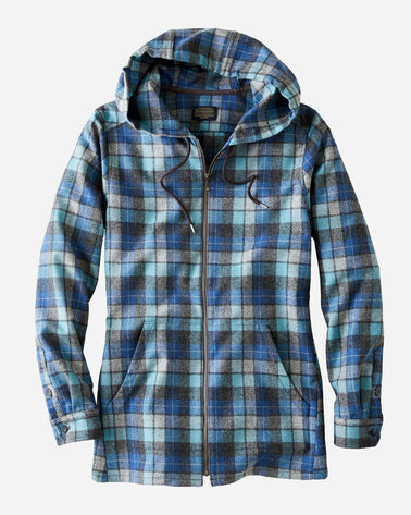 WOMEN'S WOOL ZIP HOODIE IN BLUE ORIGINAL SURF