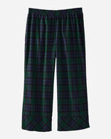 WOMEN'S CROPPED FLANNEL PAJAMA PANTS, BLACK WATCH TARTAN, large