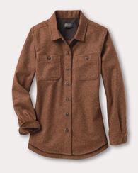 ESSENTIAL SHIRT JAC, COGNAC MIX, large