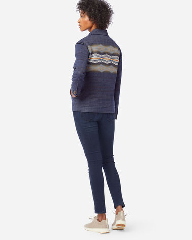 ALTERNATE VIEW OF WOMEN'S STANA WOOL JACKET IN CRESCENT BAY NAVY